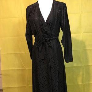 Dresses & Skirts - Silk black vintage mid length dress.